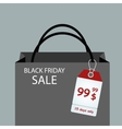 Black Friday sales tag EPS 10 vector image