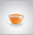 Black tea cup vector image