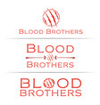 blood-brothers-logo vector image