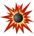 Bomb with a burning fuse vector image vector image