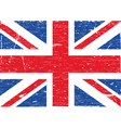 British flag grunge vector image vector image