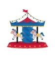 Carrousel circus festival vector image vector image