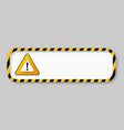 caution tape warning banner frame vector image