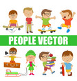 children people with various characters vector image