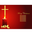 christmas candle art vector image