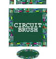 circuit brush vector image vector image