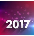 clean 2017 background for new year holidays vector image vector image
