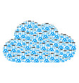 cloud composition of chemistry icons vector image