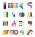 collection of colorful line and stripe infographic vector image vector image