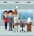 coworkers at office cartoons vector image vector image