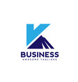 creative and simple letter k with mountain logo bl vector image