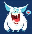 Cute cartoon monster yeti bigfoot character vector image vector image