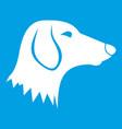 dachshund dog icon white vector image