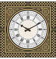 Dial Victorian clock in the style of Big Ben vector image vector image