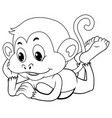 doodle animal for happy monkey vector image vector image
