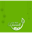 eco or green diwali greeting vector image vector image