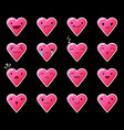 emoticons heart gradient 11 vector image