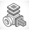 engineering abstract shape polygonal figure vector image vector image