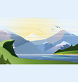 flat nature background vector image vector image