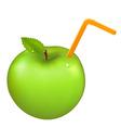 green juicy apple vector image