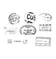 grunge passport stamps vector image