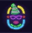 happy birthday neon sign may all your dreams and vector image