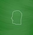 head computer symbol vector image vector image