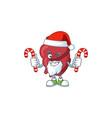 heart humble santa character having candies vector image vector image