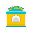 ice creme trade icon flat style vector image