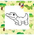 krokodile coloring page vector image vector image