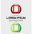 Letter D logo Creative concept icon vector image vector image