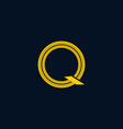 letter q point center creative modern logo vector image vector image