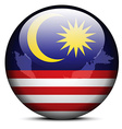 Map on flag button of Malaysia vector image vector image