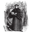martin luther vintage vector image vector image