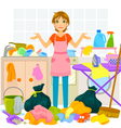 messy house vector image vector image