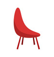 minimalist red chair clipping art good for vector image