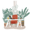 modern eco gree workplace office with concept vector image