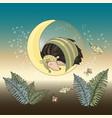 moon hedgehog animal set vector image