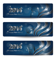 New Year banners vector image vector image