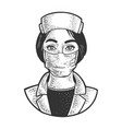 nurse sketch vector image vector image