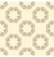 Pattern with round oriental ornament vector image