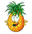 pineapple character cartoon vector image