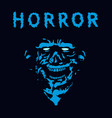 rabid zombie in blue color vector image vector image