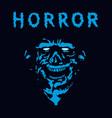 rabid zombie in blue color vector image vector image