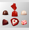 realistic sweets collection vector image vector image