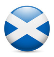 Round glossy icon of scotland vector image