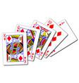 royal flush diamonds playing card vector image vector image