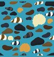 sea stones of various shapes and color seamless vector image vector image
