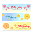 Set of colorful hello spring season banner vector image vector image