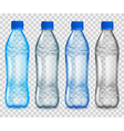 Set of transparent plastic bottles vector image